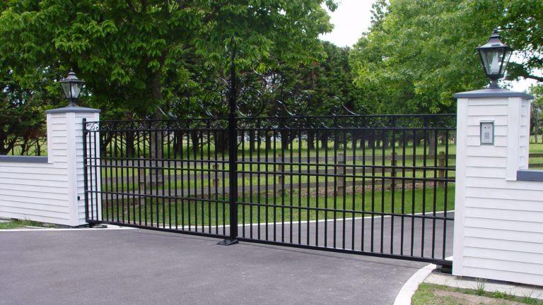 Fancy Black Swing Gates