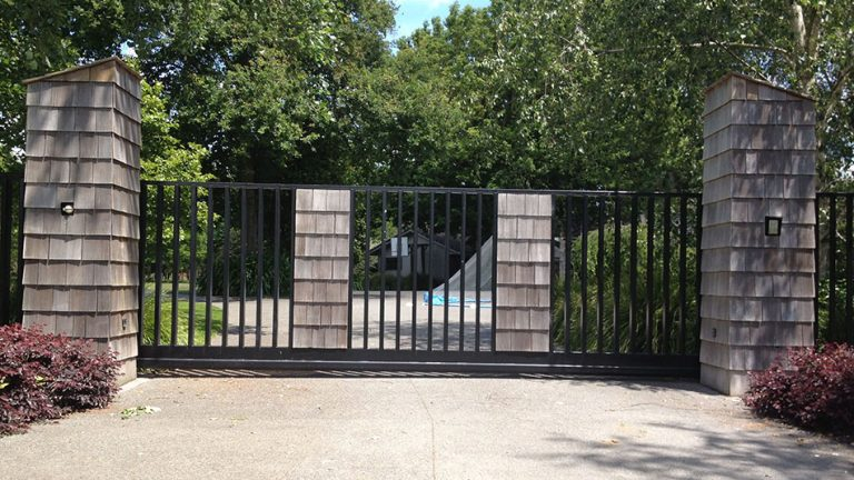 Timber Panel Cantilever Gate